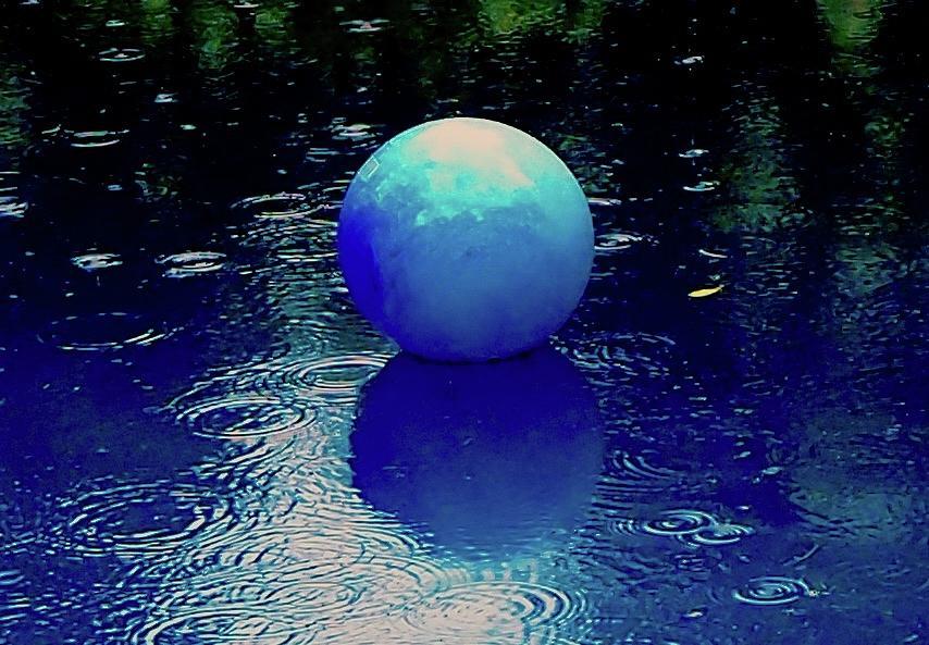 Blue Ball 4 Photograph by Alida M Haslett