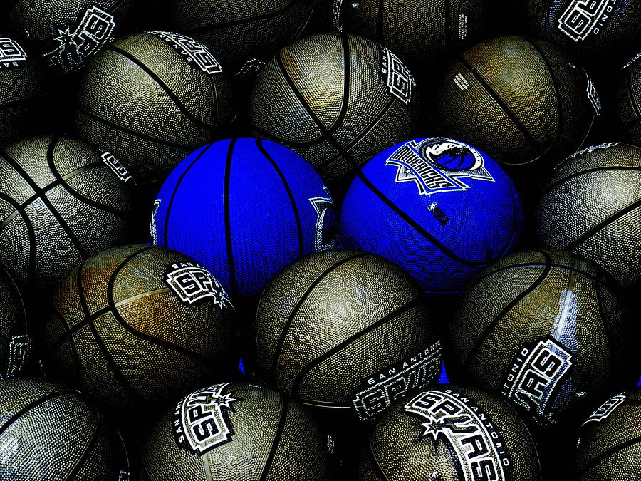 Basketball Photograph - Blue Balls by Ed Smith