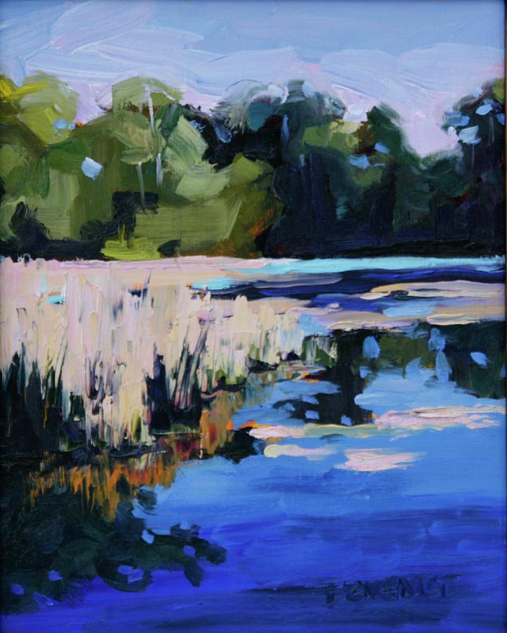 Blue Painting - Blue Bayou by Barbara Jones