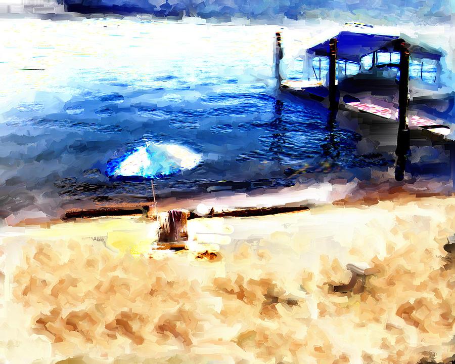 Blue Beach Idaho by Carla Dreams