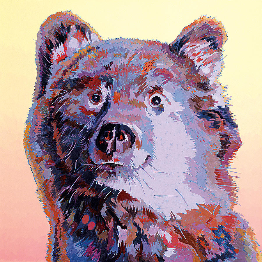 Wildlife Painting Painting - Blue Bear by Bob Coonts