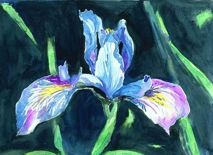 Flower Painting - Blue Beauty by Mousumi Mani