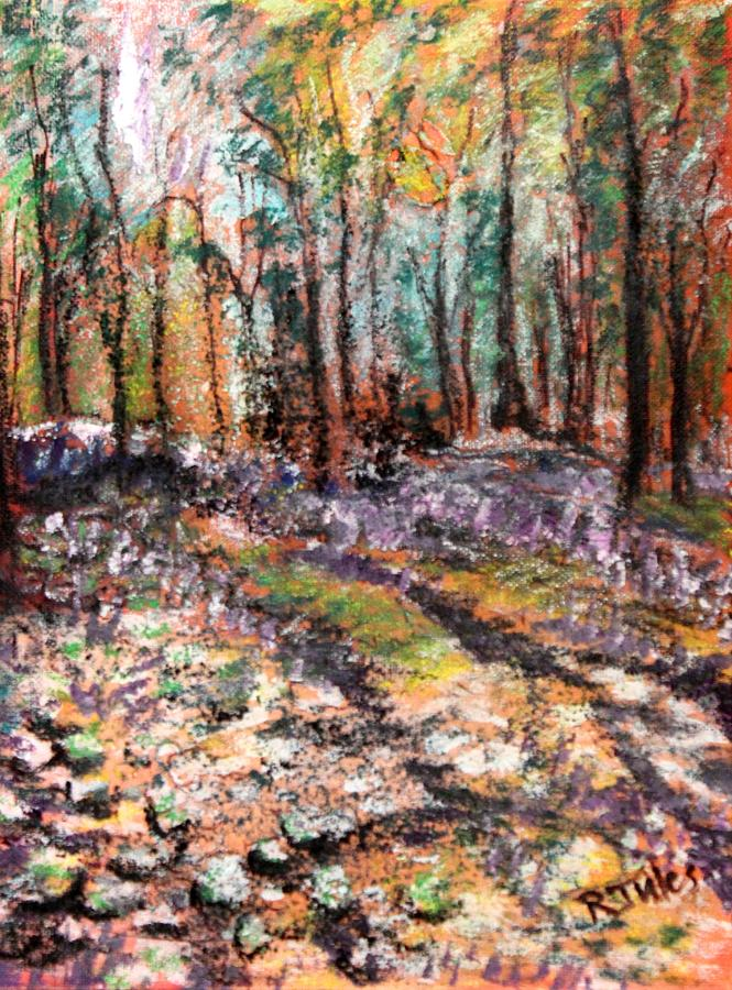 Woods Painting - Blue Bell Woods by Richard Jules