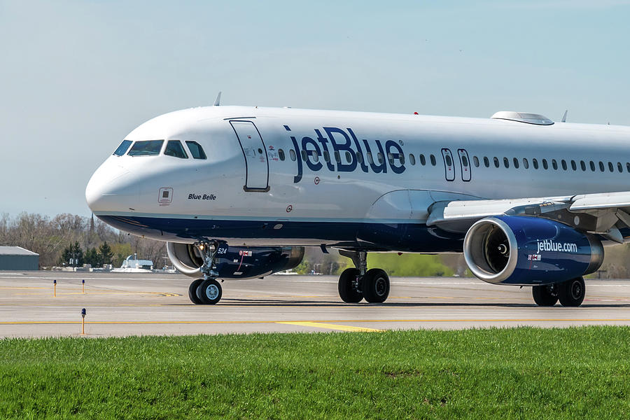 A320 Photograph - Blue Belle by Guy Whiteley