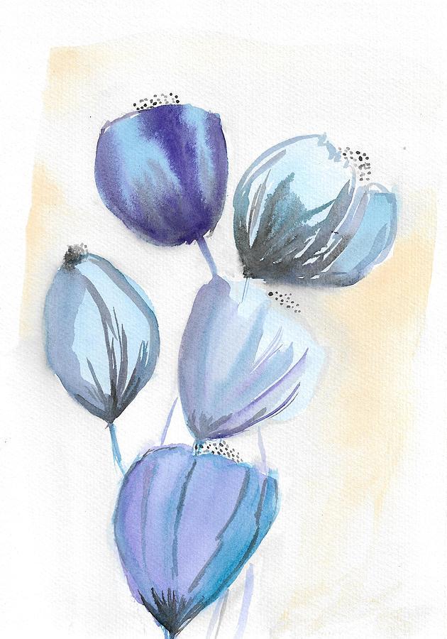 Blue Painting - Blue Bells Flowers by Ioana Stefaroi