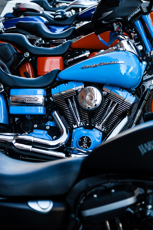 Motorcycle Photograph - Blue Bike by Tony Reddington