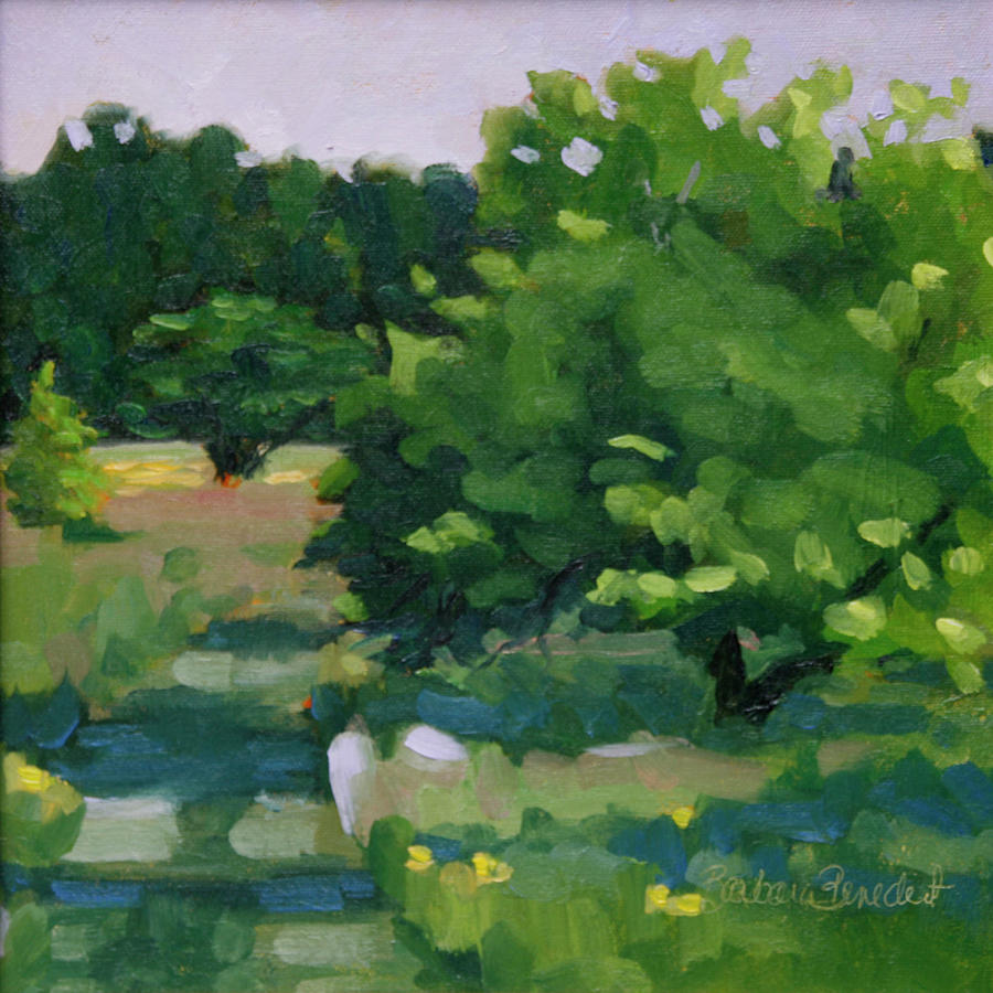 Holden Arboretum Painting - Blue Bird Alley by Barbara Jones