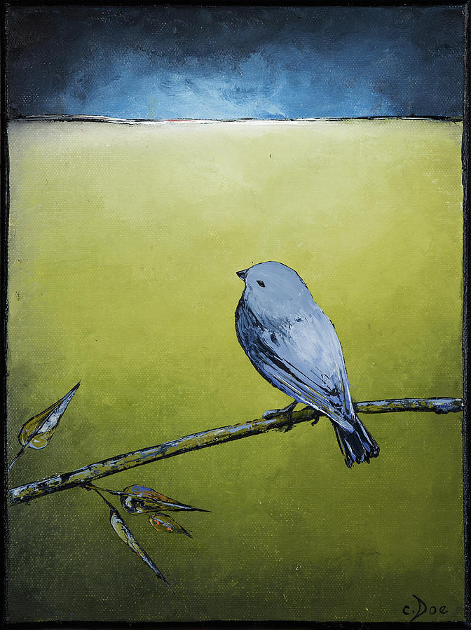 Blue Bird in Green by Carolyn Doe