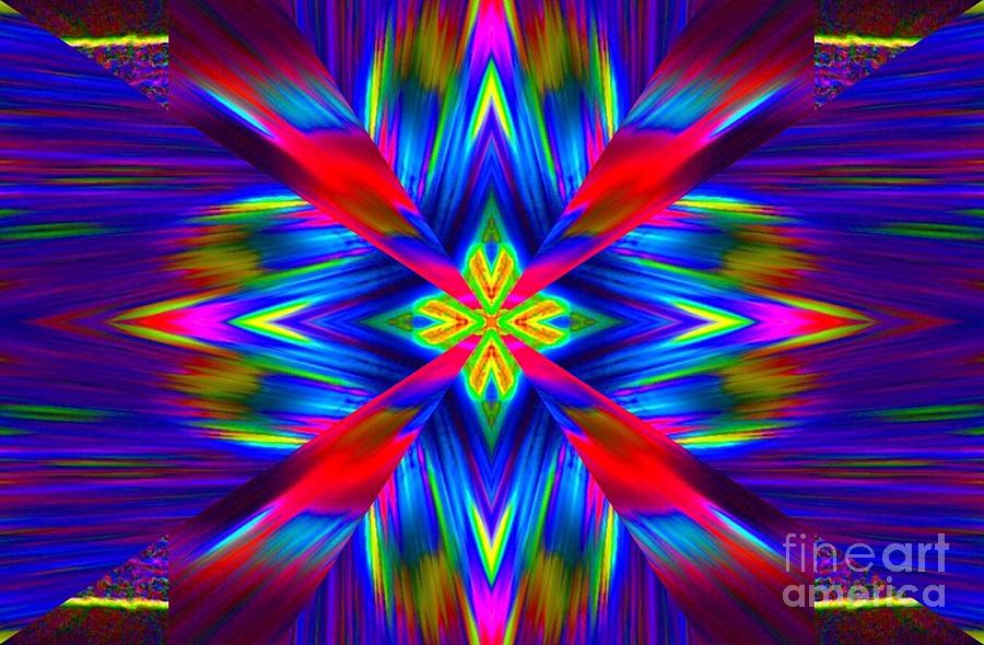 Abstract Digital Art - Blue Blaze by Lorles Lifestyles