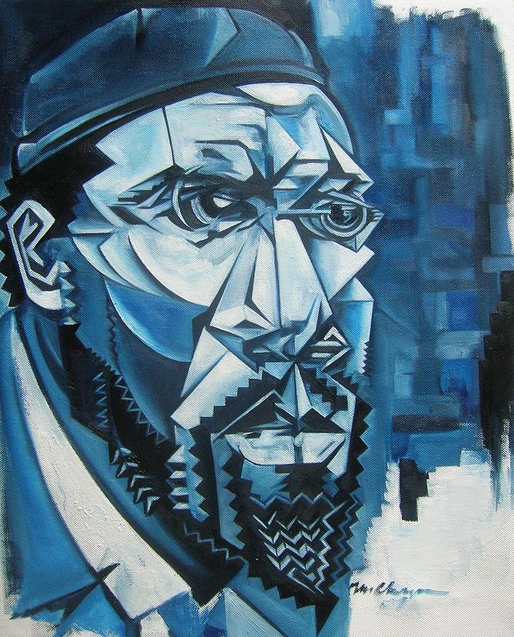 Blue Blue Monk Painting by Martel Chapman
