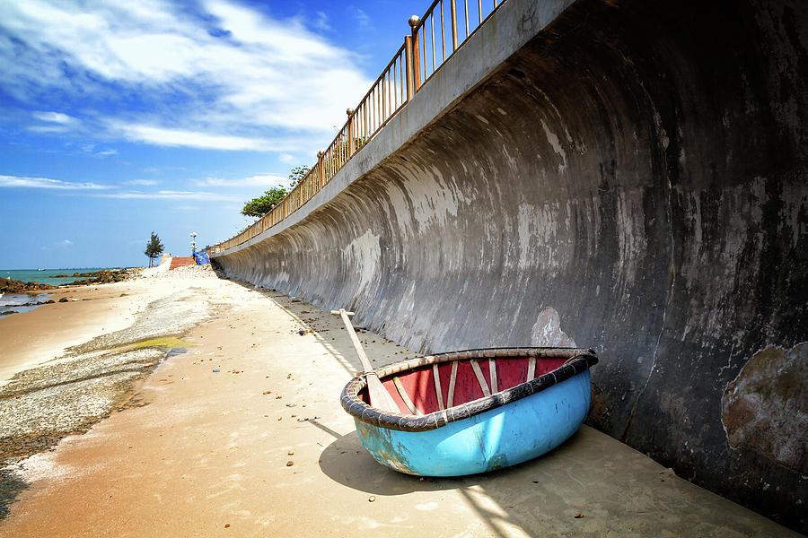 Blue Boat by Marzena Grabczynska Lorenc