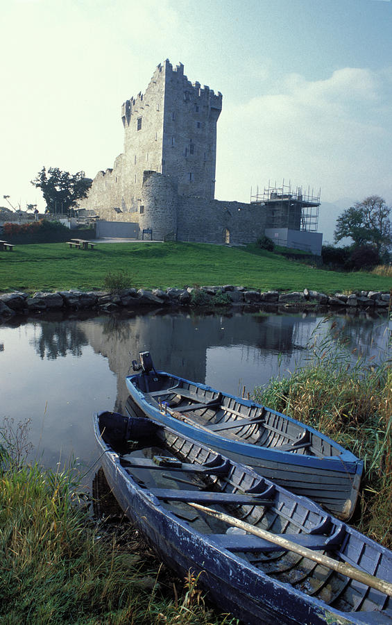 Blue Photograph - Blue Boats In Ireland by Carl Purcell