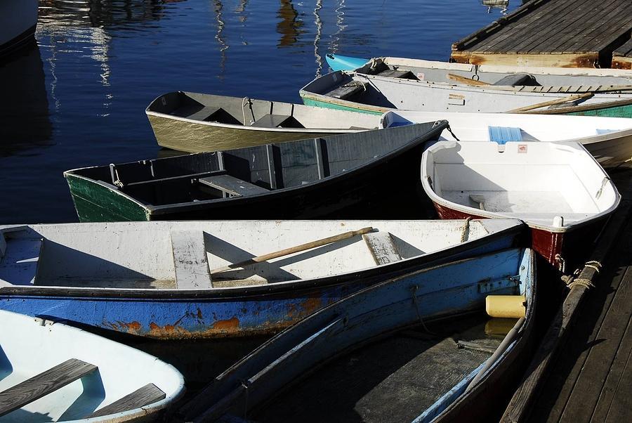 Blue Boats of Rockport by AnnaJanessa PhotoArt