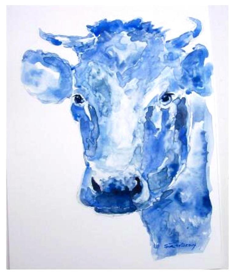 Blue Painting - Blue Bonnet  by Sue Prideaux