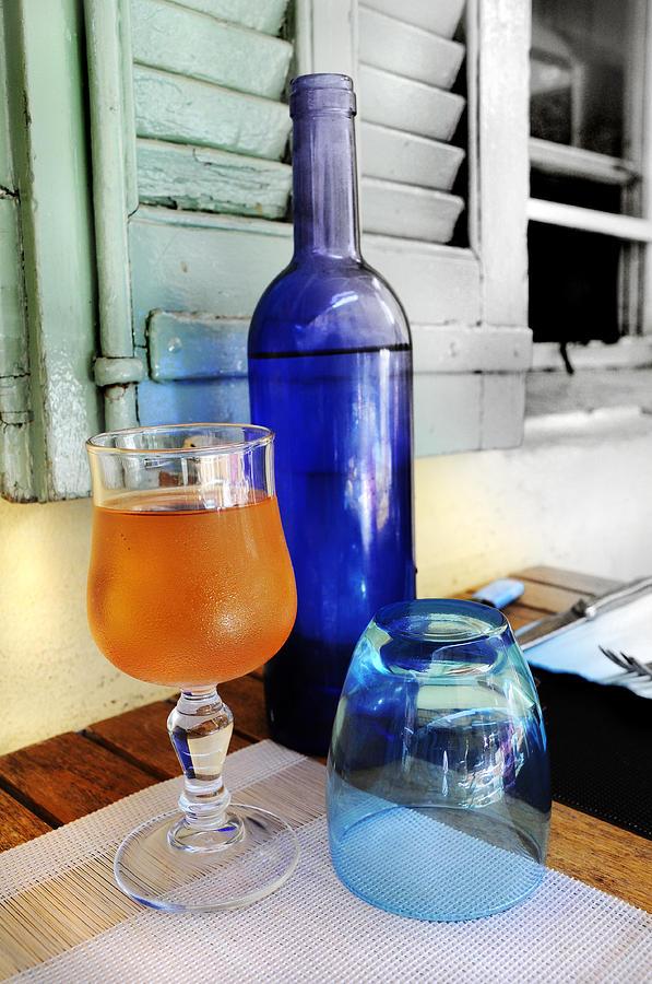 Blue Photograph - Blue Bottle by Martine Affre Eisenlohr