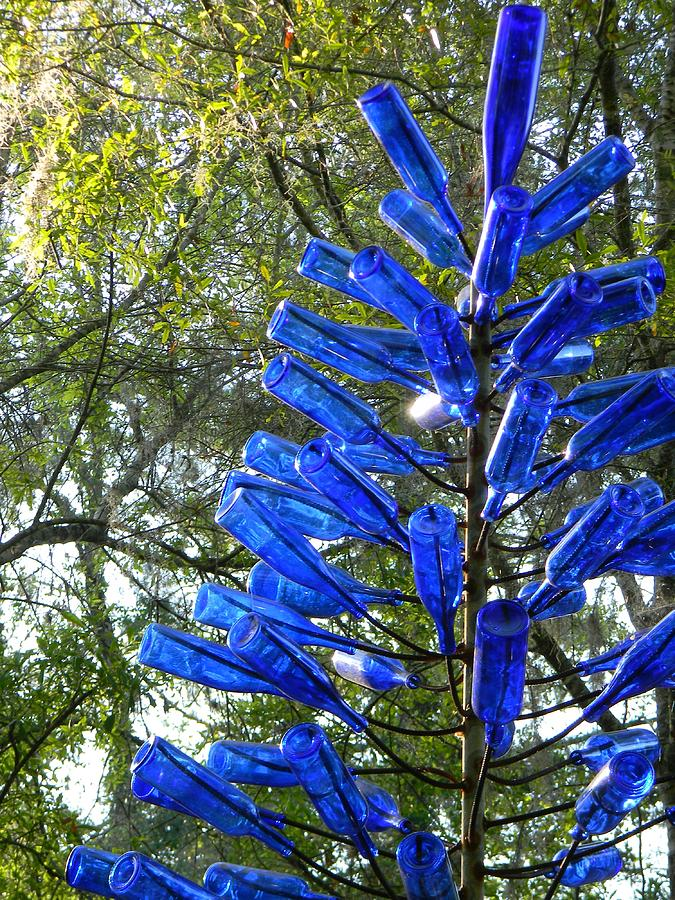 Bottles Photograph - Blue Bottle Tree by Warren Thompson