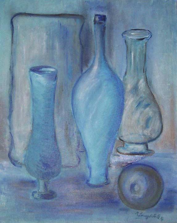 Bottle Photograph - Blue Bottles  by Michel Croteau