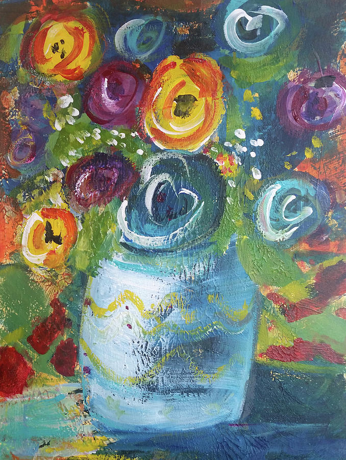 Blue Bouquet by Jenny Mead