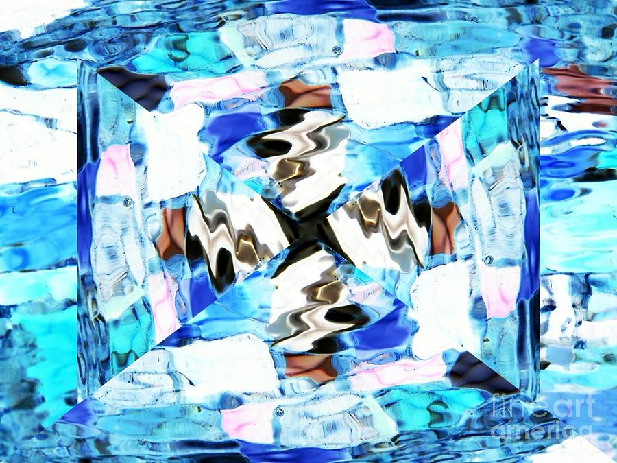 Abstract Digital Art - Blue Bow by Lorles Lifestyles