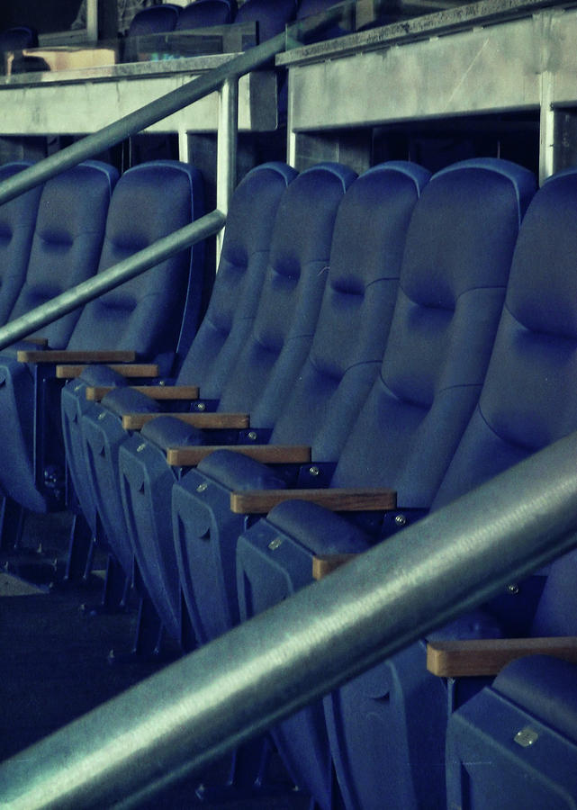 Yankees Photograph - Blue Box Seats by JAMART Photography