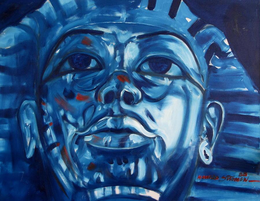 King Tut Painting - Blue Boy by Howard Stroman