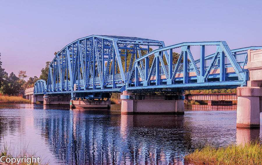 Blue Bridge Photograph - Blue Bridge Georgia Florida Line by William Randolph
