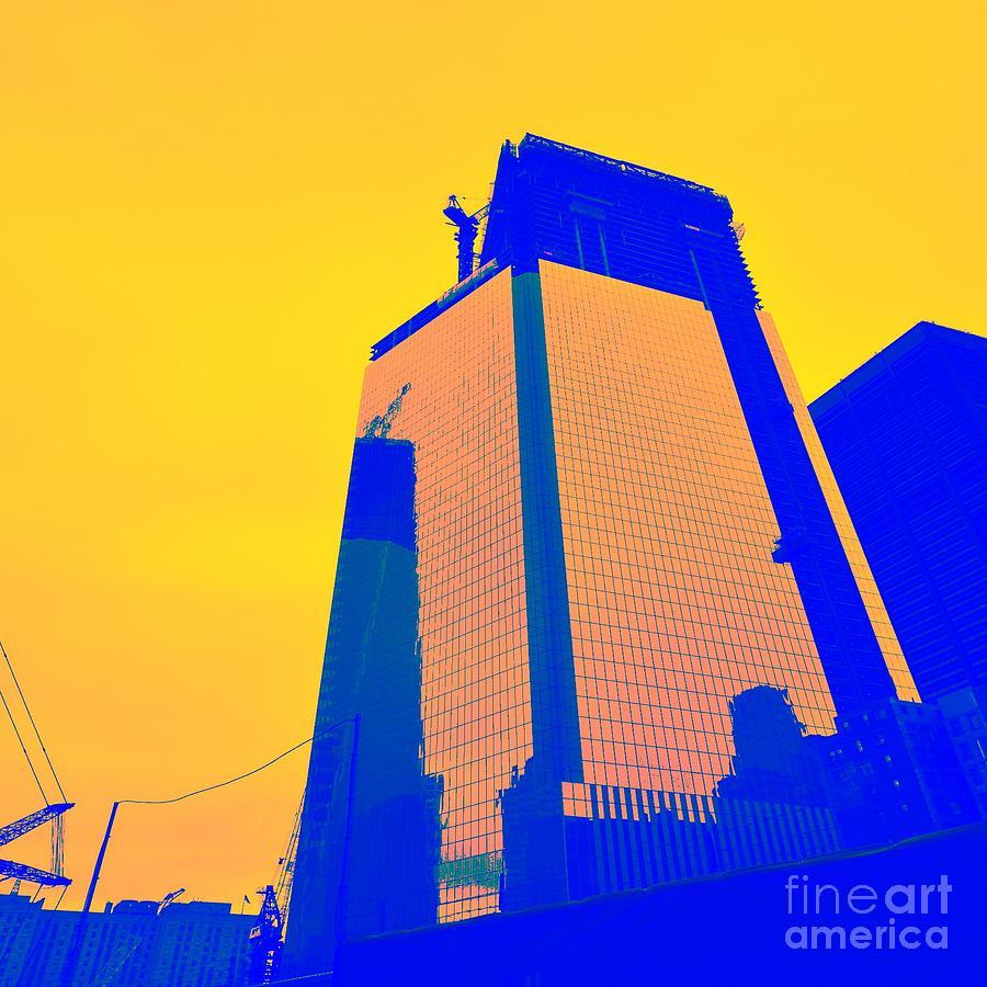 Digital Photograph - Blue Building by Eliso Silva