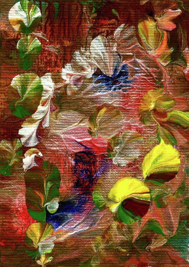 Blue Butterfly Jungle by Nan Bilden