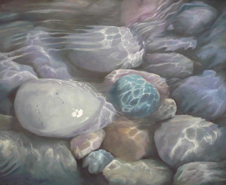 Blue Calm Painting by Caroline Philp