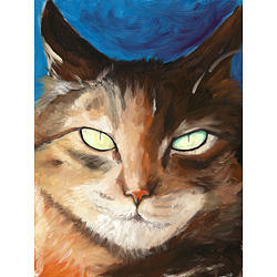 Cat Painting - Blue Cat by Lisa Bohart