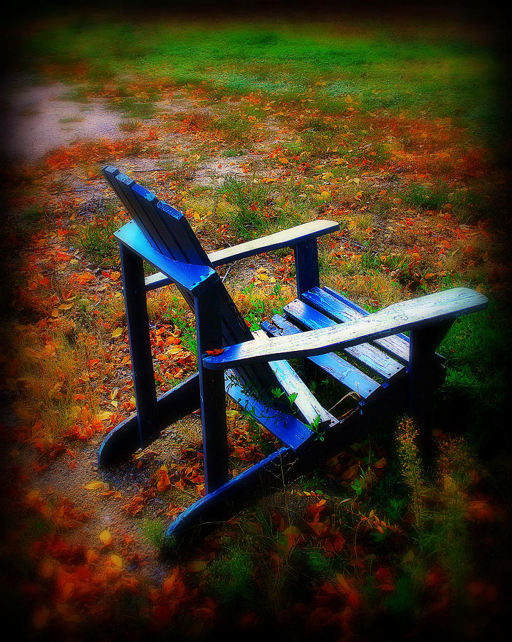 Chair Photograph - Blue Chair by Perry Webster