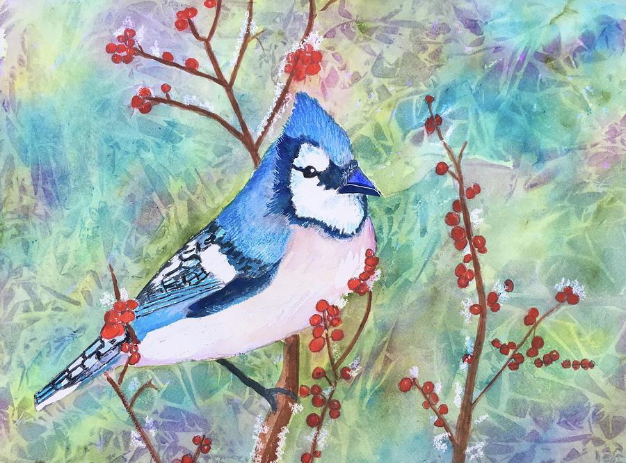 Blue Christmas Painting - Blue Christmas by Marita McVeigh
