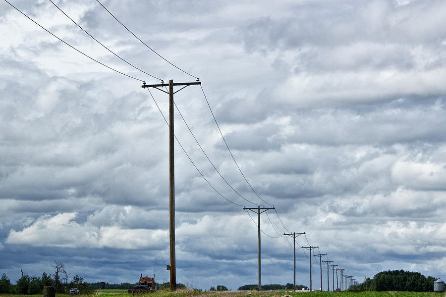 Image result for overhead power lines farm
