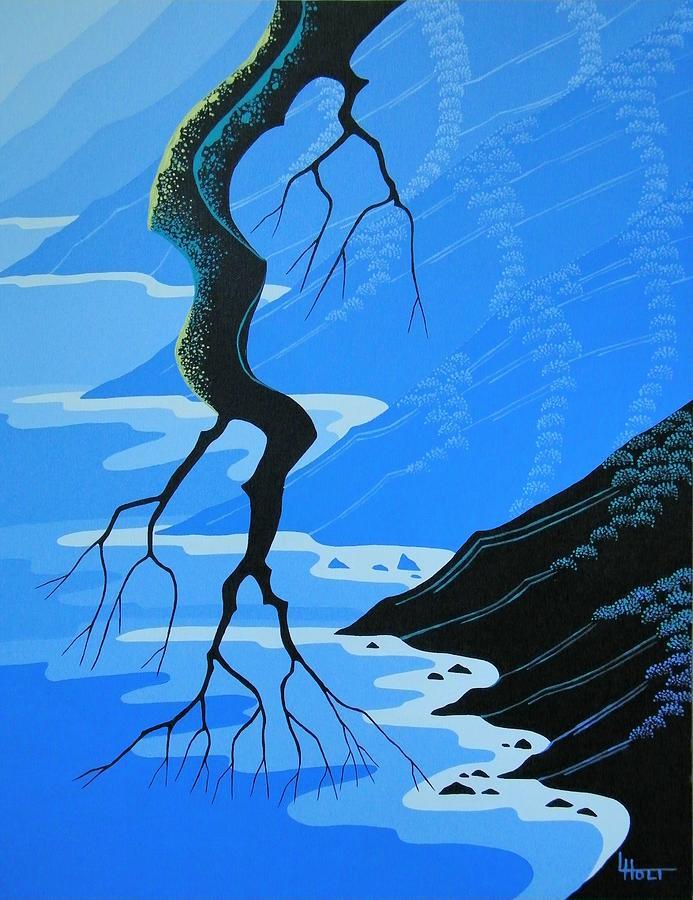 Coastal Painting - Blue Coast by Larissa Holt