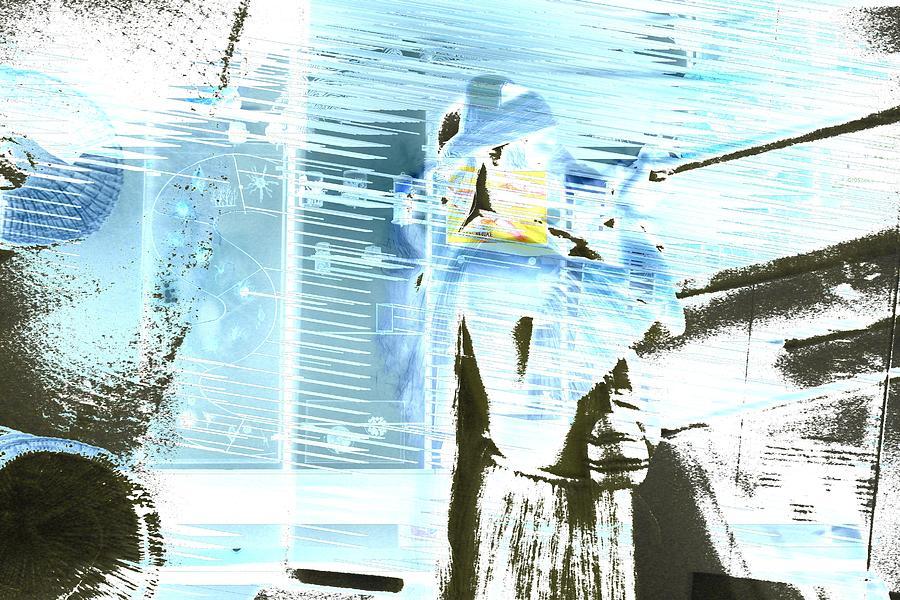 Blue Collage Digital Art by Nikita Grabovskiy