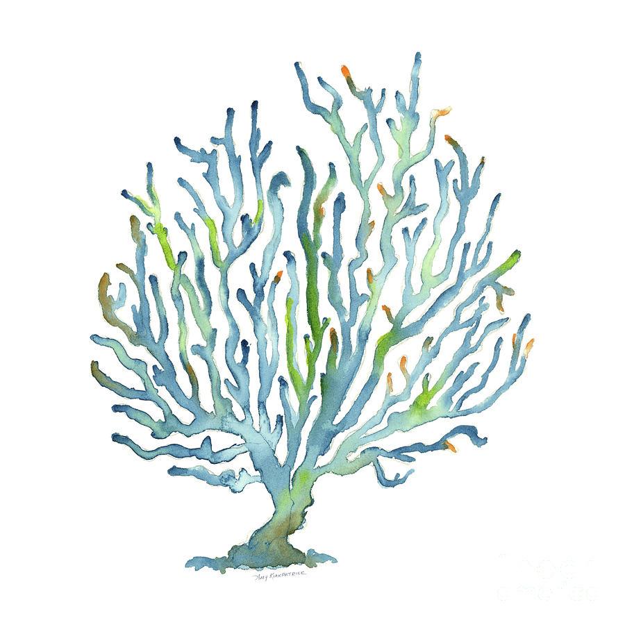 Blue Coastal Painting