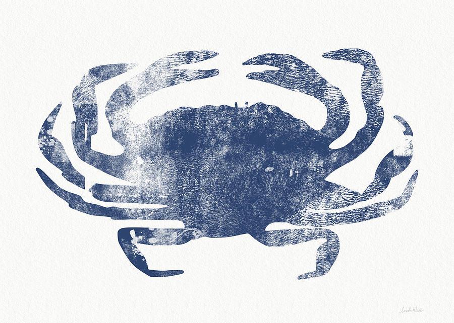 Crab Painting - Blue Crab- Art By Linda Woods by Linda Woods