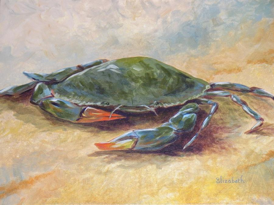 Blue Crab At Rest Painting by Beth Maddox