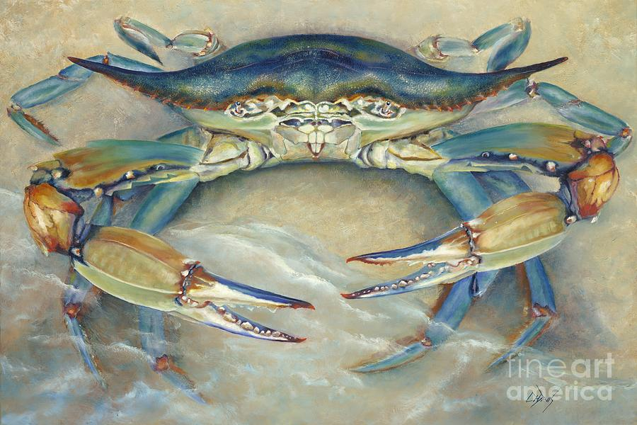 Crab Painting - Blue Crab by Catherine Davis