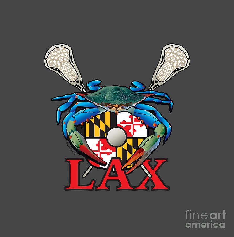 Blue crab maryland lax crest