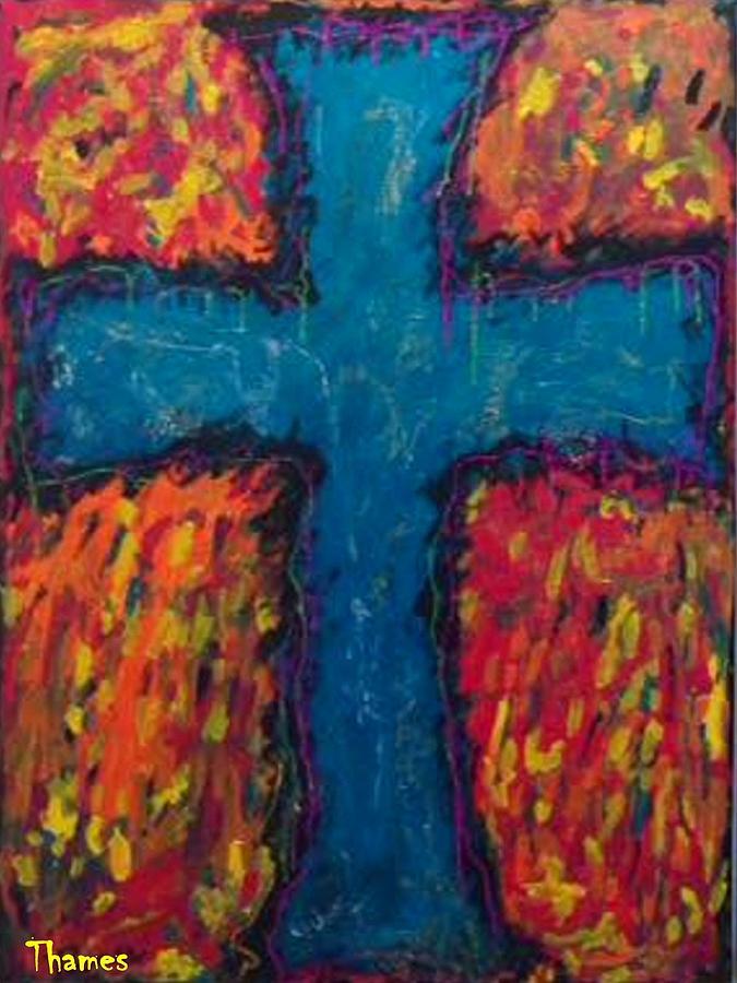 Cross Photograph - Blue Cross by Chris Thames