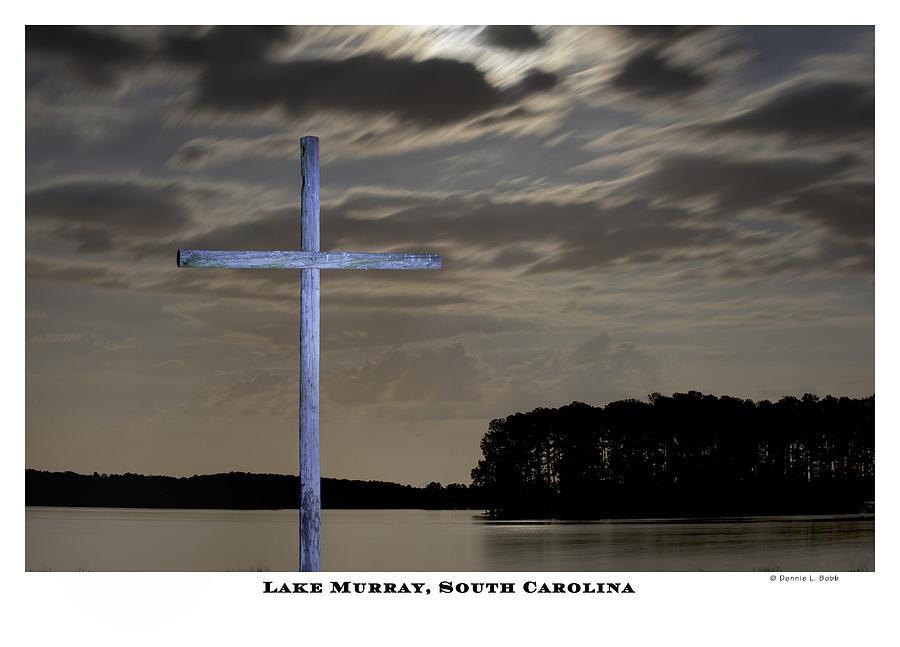 Cross Photograph - Blue Cross by Donnie Bobb