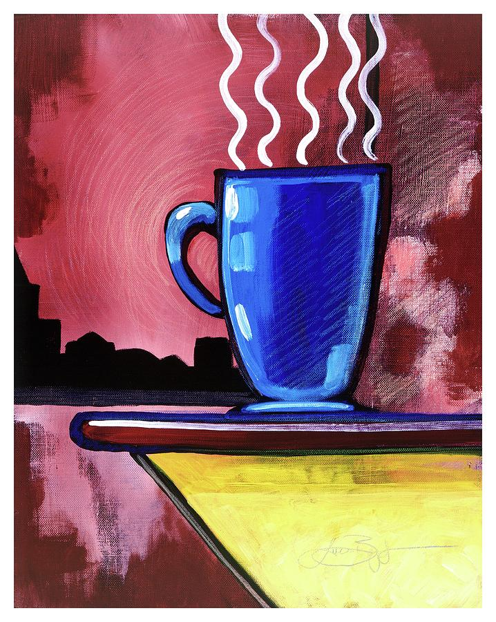 Acrylic Mixed Media - Blue Cup by Lucas Boyd