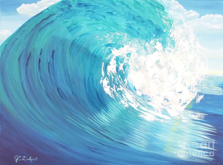 Blue Curl by Jenn C Lindquist