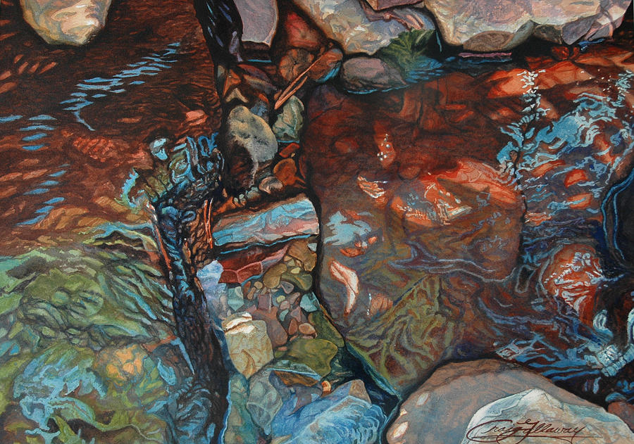 Rocks Painting - Blue Current by Craig Gallaway