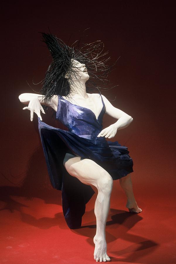 Dance Sculpture - Blue Dancer Right View by Gordon Becker