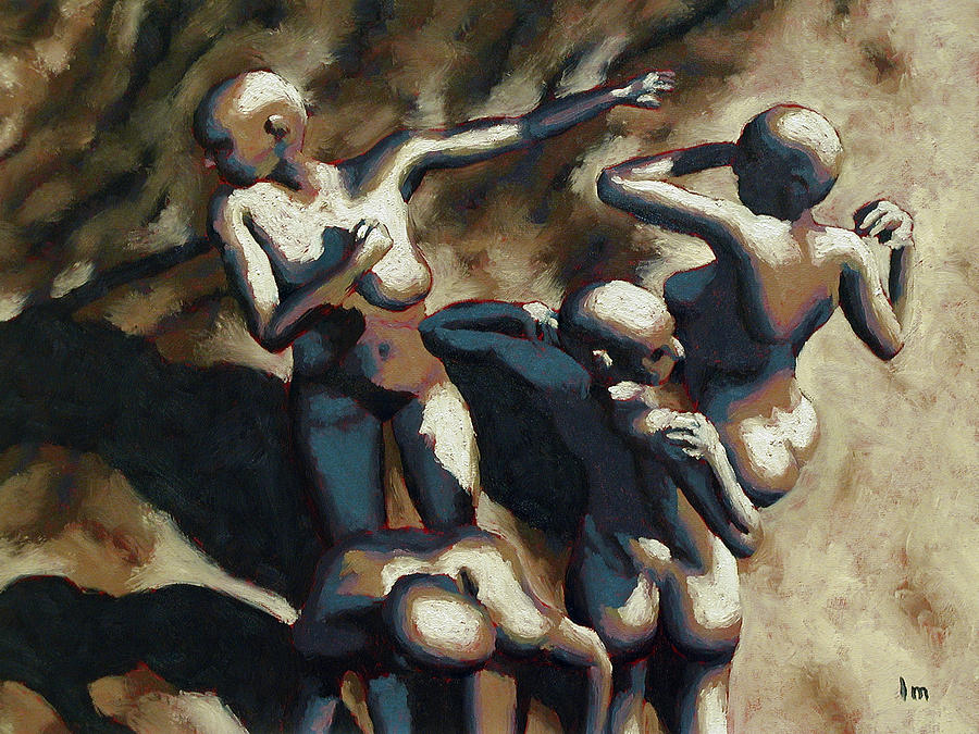 Oil Painting - Blue Dancers by Leo Mazzeo