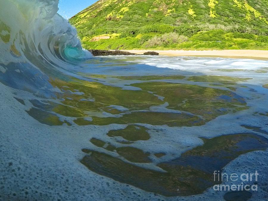 Wave Photograph - Blue Diamond  by Benen  Weir