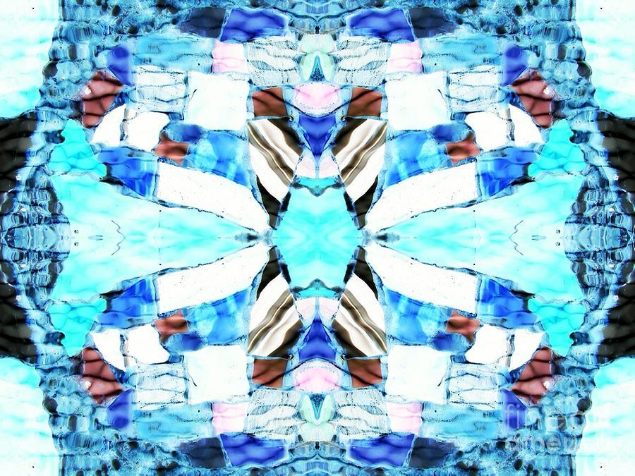 Abstract Digital Art - Blue Diamond by Lorles Lifestyles