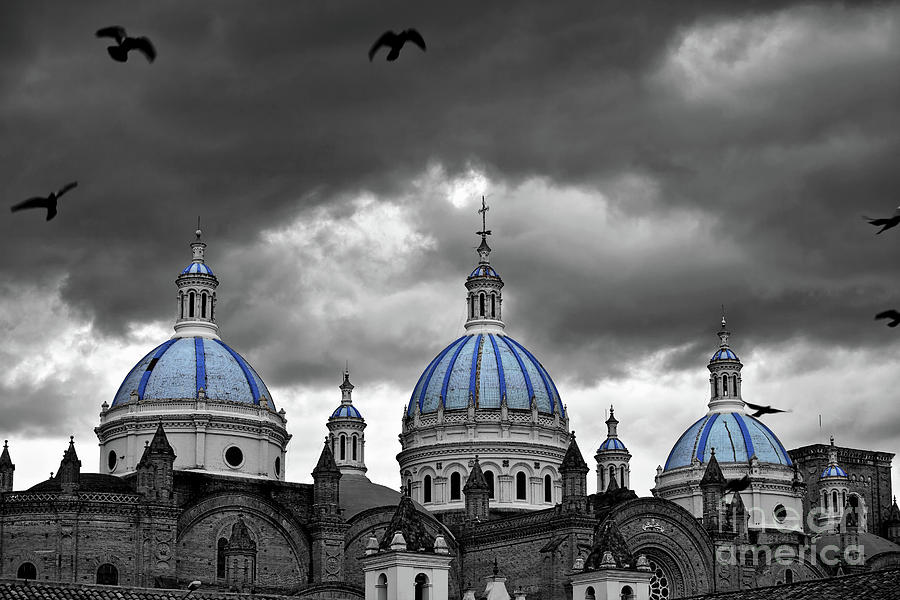 Blue Domes of the Cuenca Cathedral by Sam Antonio Photography